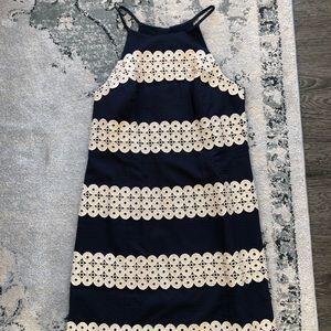 Lilly Pulitzer Navy/Gold Shift Dress